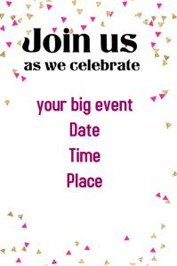 Celebration Event Flyer