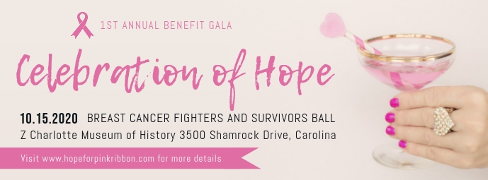 Celebration of Hope Breast Cancer Awareness Cover na Larawan ng Facebook template