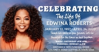 Celebration of life funeral annoucement Facebook Shared Image template
