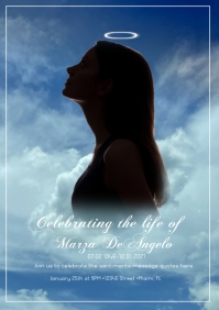 Celebration of Life Invitation Photography Wa A5 template