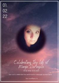 Celebration of Life Invitation Photography Wi A5 template