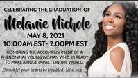 Graduation Celebration Visitkort template