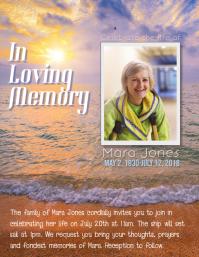 celebration of life memorial in loving memory flyer