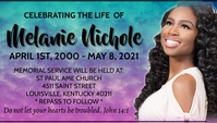 Celebration of life memorial service Carte de visite template