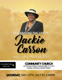 Customizable Design Templates for Obituary | PosterMyWall