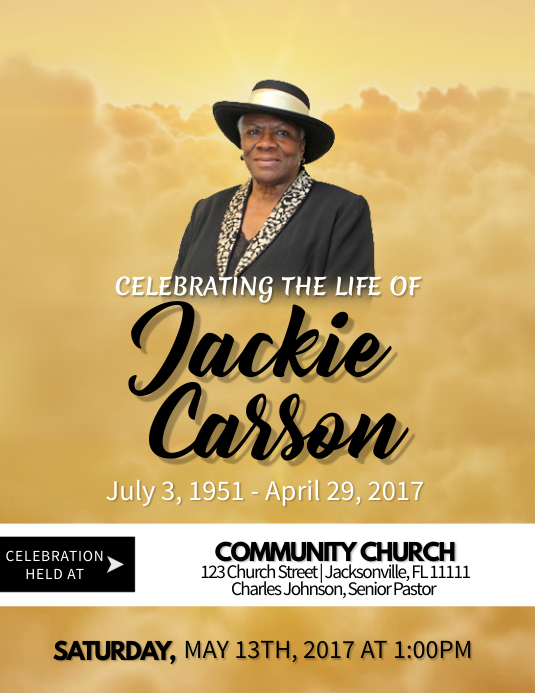 Celebration Of Life Template PosterMyWall - Celebration of life template