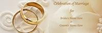 Celebration of Wedding Background Encabezado de correo electrónico template