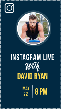 CELEBRITIES INSTAGRAM LIVE DESIGN template