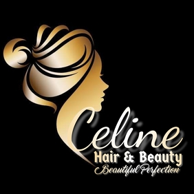 Celine hair logo Logotipo template