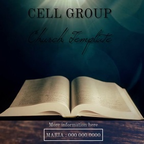 CELL GROUP BIBLE AD VIDEO TEMPLATE
