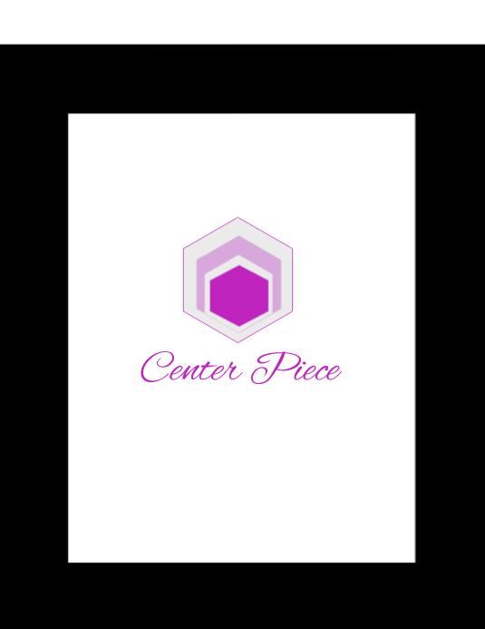 Center Piece Рекламная листовка (US Letter) template