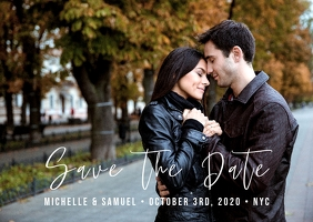 Central Park - Save the Date Postcard template