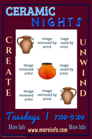 Ceramic Nights Poster Template