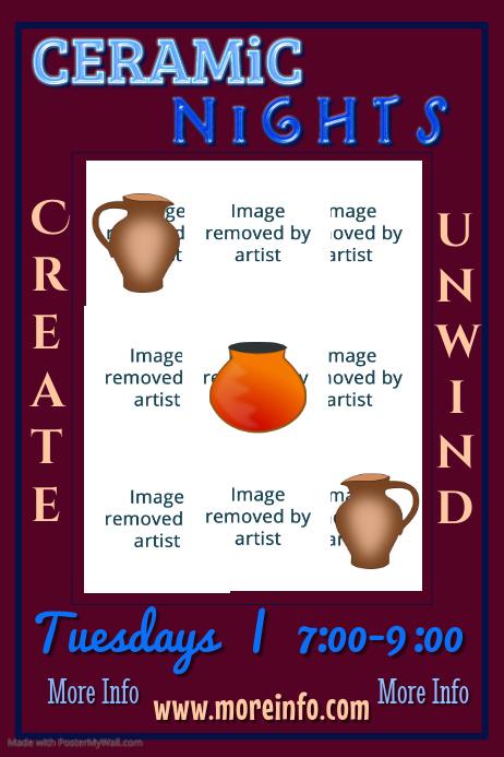 Ceramic Nights Poster Template