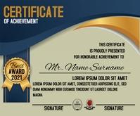 Certificate Achievement Template Mellemstort rektangel