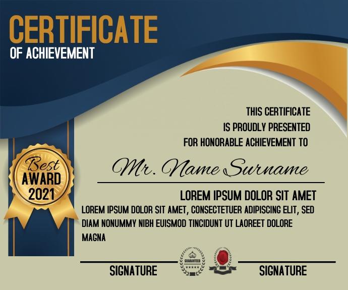 Certificate Achievement Template Средний прямоугольник