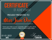 Certificate Flyer (US-Letter) template