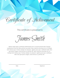 Certificate Flyer (US Letter) template
