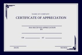 customizable design templates for certificate appreciation