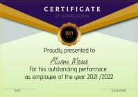 Certificate A4 template