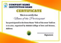 Certificate Postcard template