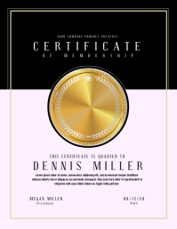 certificate Flyer (format US Letter) template