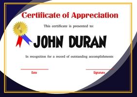 Certificate Открытка template