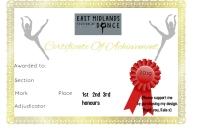 Certificate EAST MIDS
