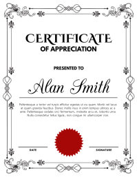 Certificate Template Flyer (US Letter)