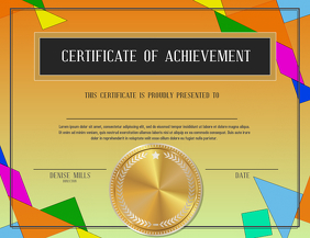 certificate of achievement Flyer (US Letter) template