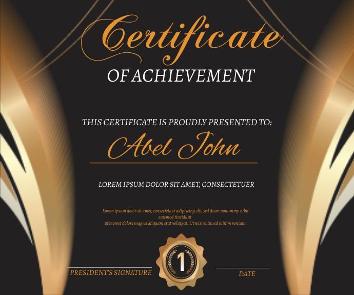 Certificate of Achievement 中型广告 template