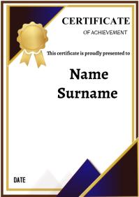certificate of achievement A4 template