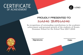 CERTIFICATE OF ACHIEVEMENT Plakkaat template