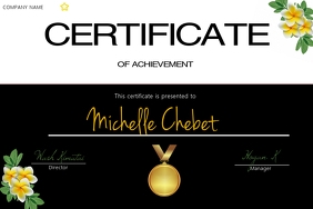 CERTIFICATE OF ACHIEVEMENT Label template