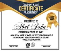 Certificate of achievement Persegi Panjang Besar template