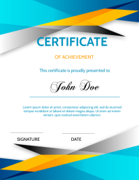 Certificate of Achievement Volante (Carta US) template