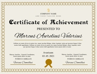 certificate of achievement template design