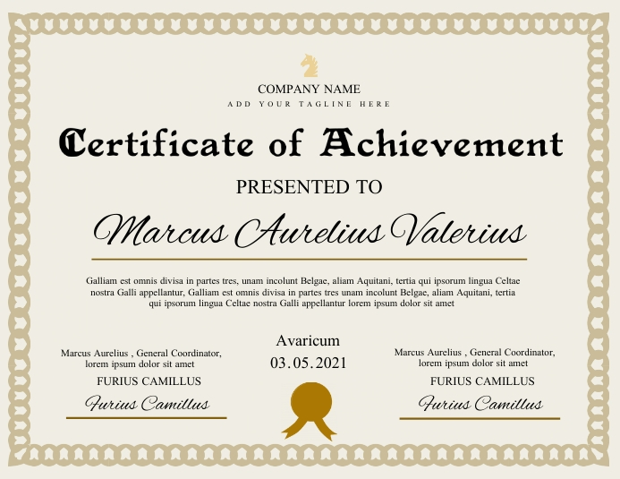 certificate of achievement template design Folheto (US Letter)