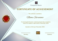 Certificate of achivement91 A4 template