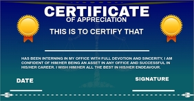 CERTIFICATE OF APPRECIATION 2 TEMPLATE Facebook-Anzeige