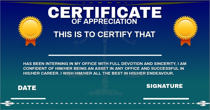CERTIFICATE OF APPRECIATION 2 TEMPLATE Anuncio de Facebook