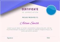 Certificate of appreciation A4 template
