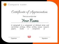 Certificate of appreciation j1851 งานนำเสนอ Presentation template