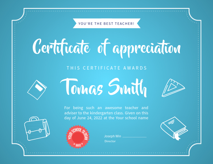 Certificate of Appreciation Landscape