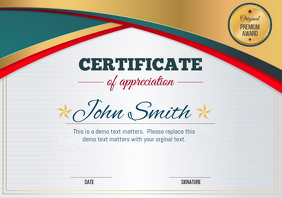 Customizable design templates for certificate appreciation certificate of appreciation yadclub Image collections