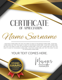 CERTIFICATE OF APPRECIATION template Flyer (US Letter)
