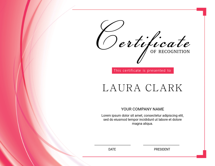 Certificate of Appreciation Template Løbeseddel (US Letter)