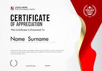 Certificate Of Appreciation template. A5