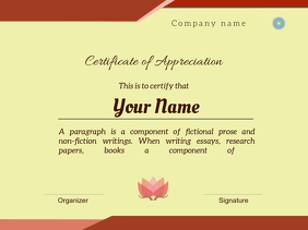 certificate of appreciation1 Presentation template