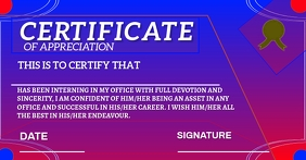 CERTIFICATE OF APPREICIATION TEMPLATE Facebook Shared Image